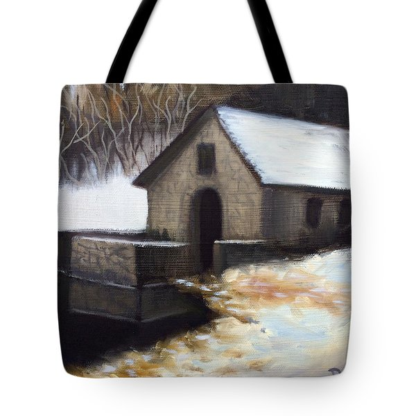 Fallen Snow Tote Bag by Dustin Miller
