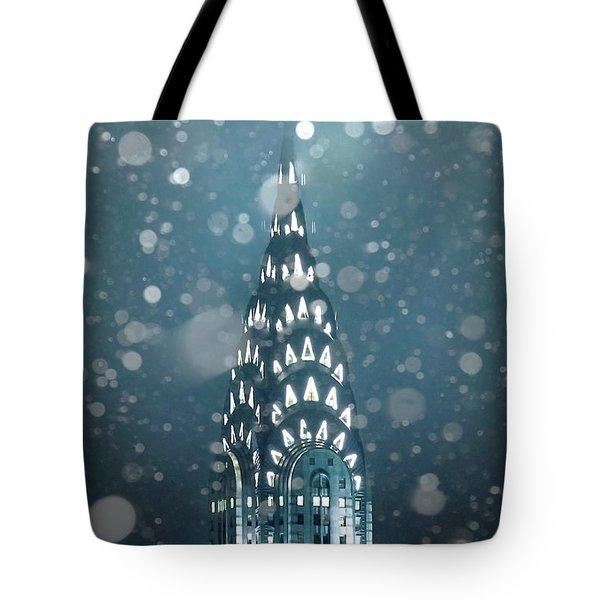 Snowy Spires Tote Bag
