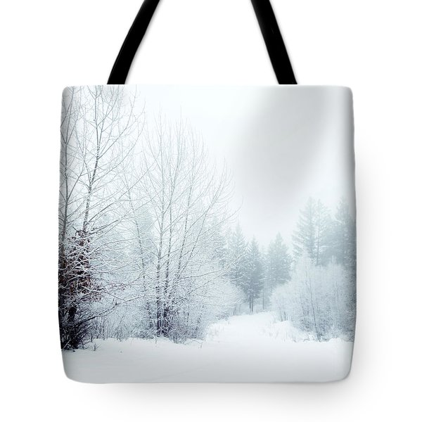 Snowy Sunday Tote Bag