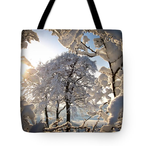 Snowy Trees Tote Bag