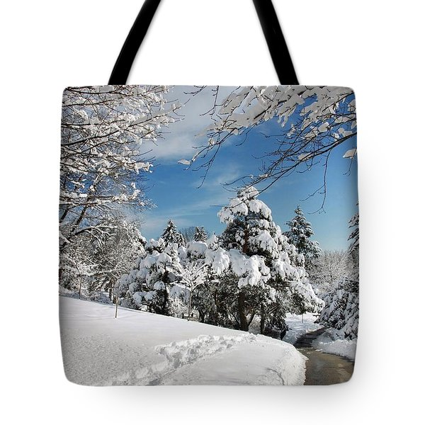 Snowy Wonderland  Tote Bag