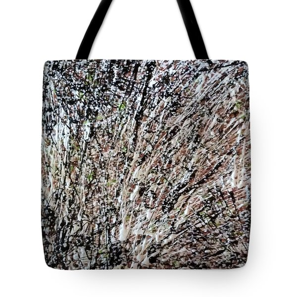 Tote Bag featuring the painting Snowy Woods by Pat Purdy