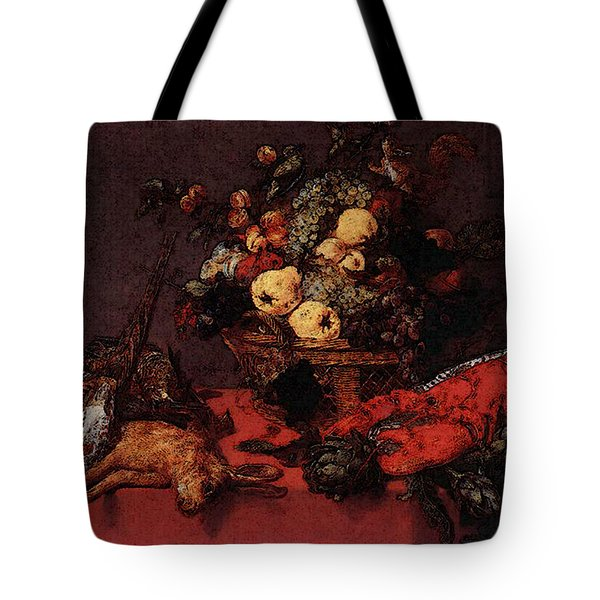 Snyders Frans Still Life With A Basket Of Fruit Tote Bag by Frans Snyders