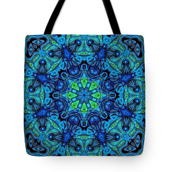So Blue - 04v2 - Mandala Tote Bag by Aimelle