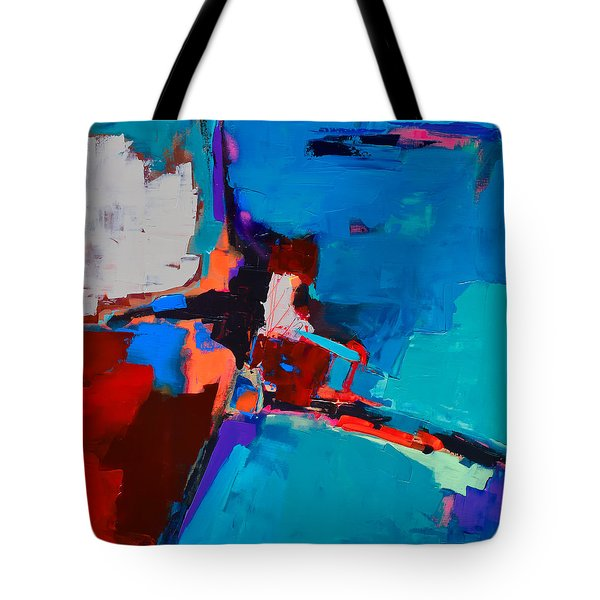 So Far - Art By Elise Palmigiani Tote Bag by Elise Palmigiani