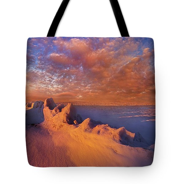 Tote Bag featuring the photograph So It Begins by Phil Koch