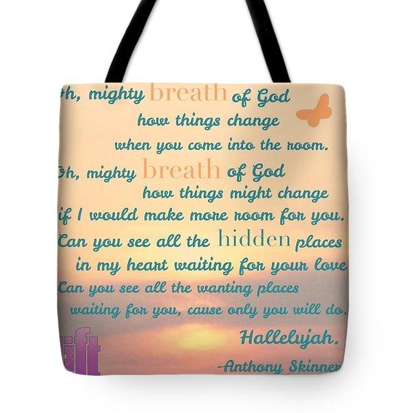 So Jesus Said To Them Again, peace Be Tote Bag