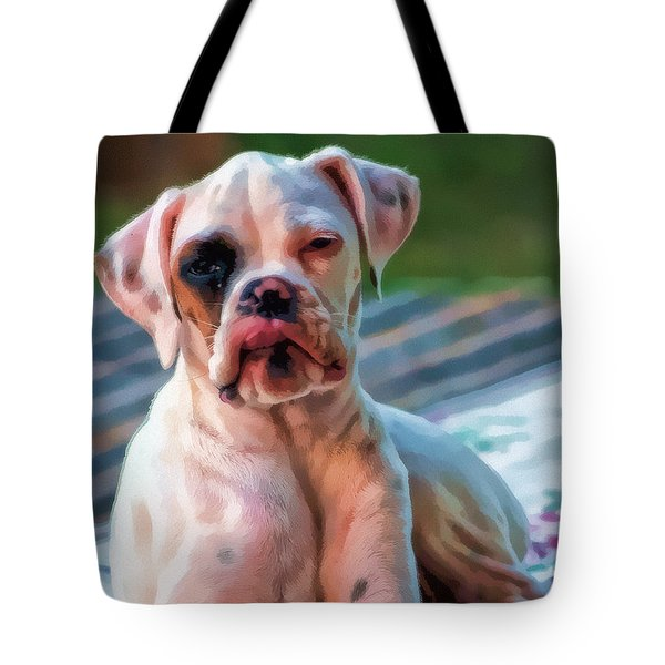 Tote Bag featuring the digital art So Proud by Kathy Tarochione