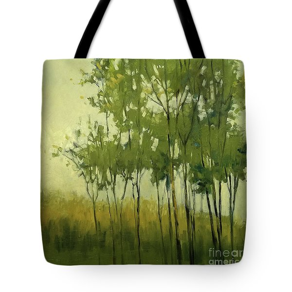 So Tall Tree Forest Landscape Painting Tote Bag