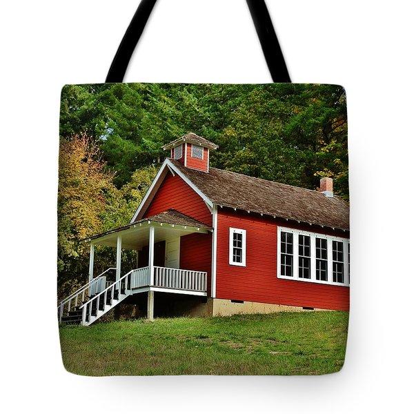 Soap Creek Schoolhouse Tote Bag by VLee Watson