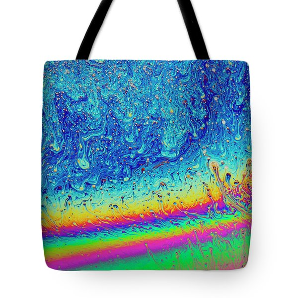 Tote Bag featuring the photograph Soap Night Sky In Soap by Jean Noren