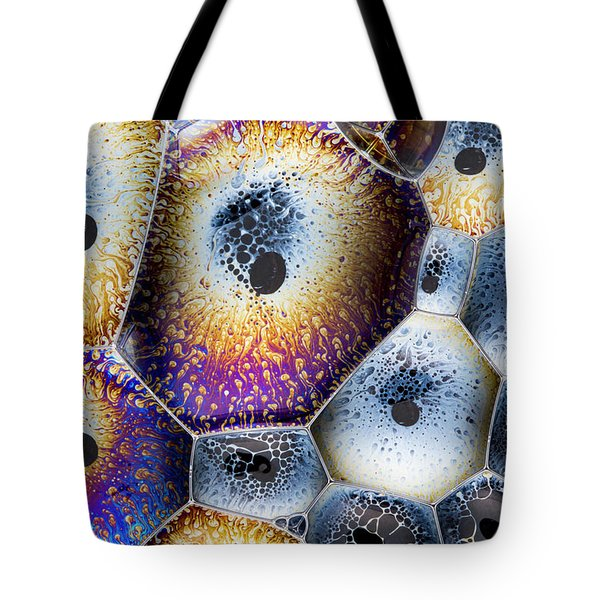 Tote Bag featuring the photograph Soap Suds Detail by Jean Noren