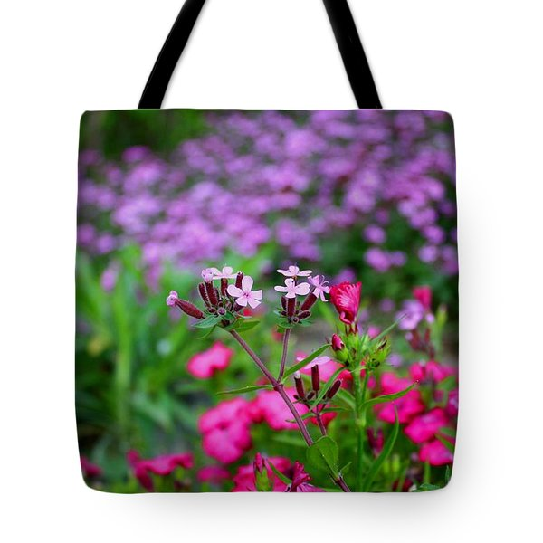 Tote Bag featuring the photograph Soapwort And Pinks by Kathryn Meyer