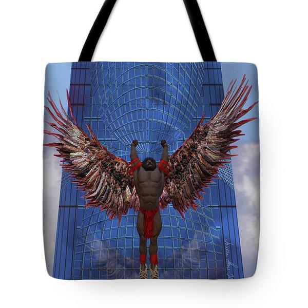 Tote Bag featuring the digital art Soar by Iowan Stone-Flowers