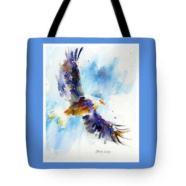 Soaring Eagle Tote Bag by Christy Lemp