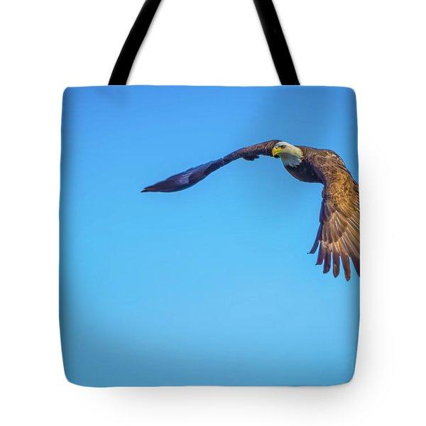 Soaring Eagle Tote Bag by John Roberts
