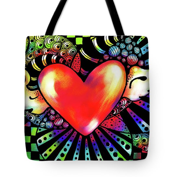 Soaring Heart Coloration Tote Bag