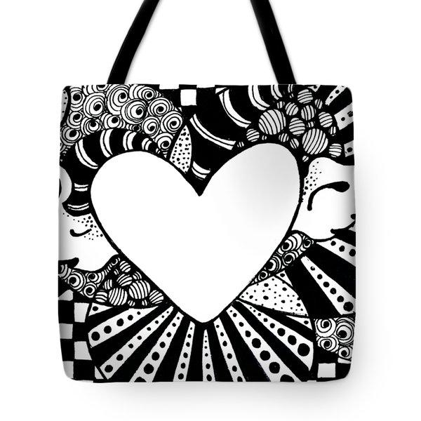 Soaring Heart  Tote Bag by Nada Meeks