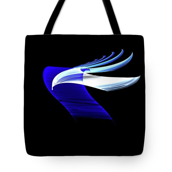 Tote Bag featuring the digital art Soaring by Lea Wiggins