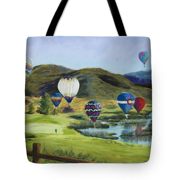 Soaring Over Colorado Tote Bag