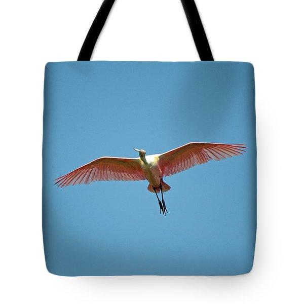 Soaring Roseate Spoonbill Tote Bag