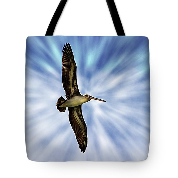 Soaring With Ease At Puerto Lopez Tote Bag
