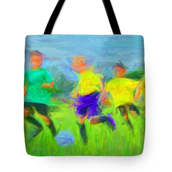 Soccer 3 Tote Bag