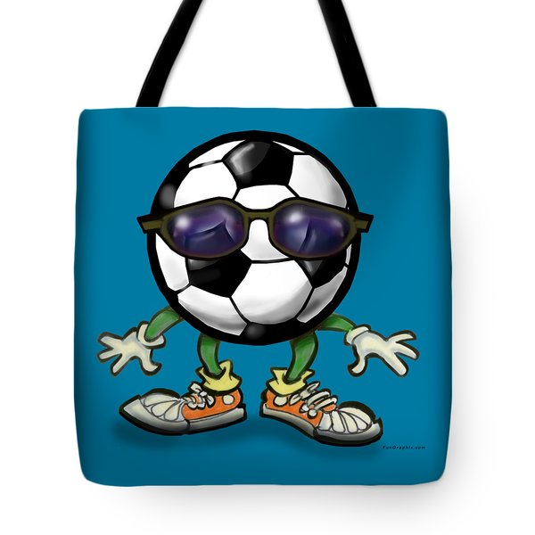 Soccer Cool Tote Bag by Kevin Middleton