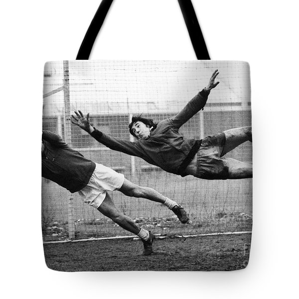 Soccer Goalies, 1974 Tote Bag by Granger