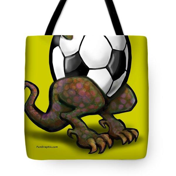 Soccer Zilla Tote Bag