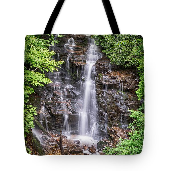 Tote Bag featuring the photograph Socco Falls by Stephen Stookey