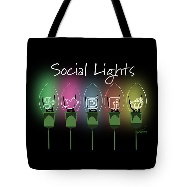 Social Lights Tote Bag
