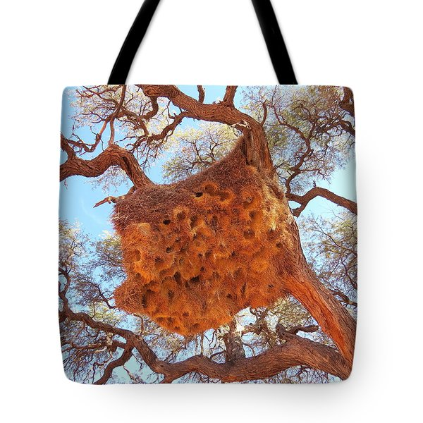 Social Weaver Nest Tote Bag
