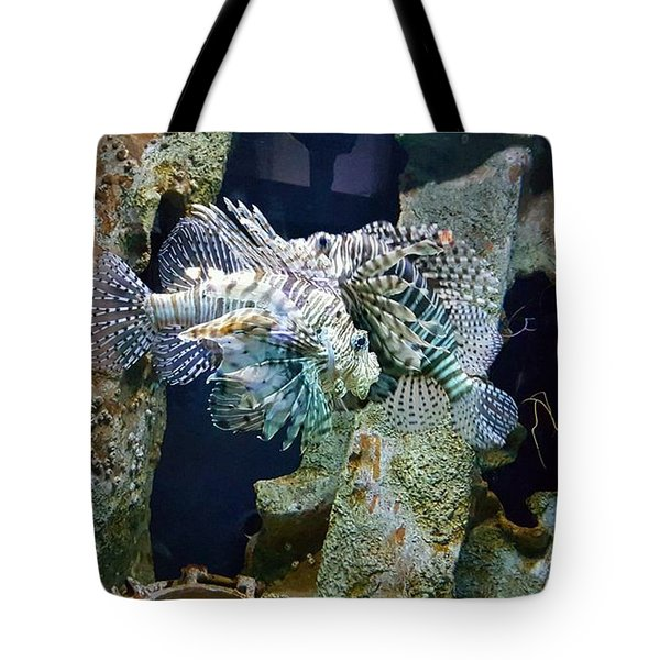 Socializing Fish Tote Bag
