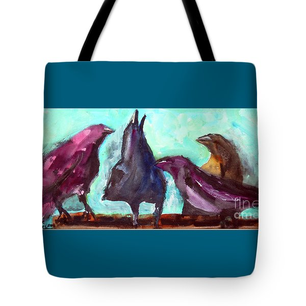 Socializing Tote Bag by Ron Stephens