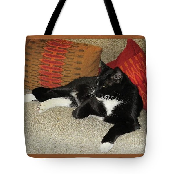 Socks The Cat King Tote Bag by Fred Jinkins