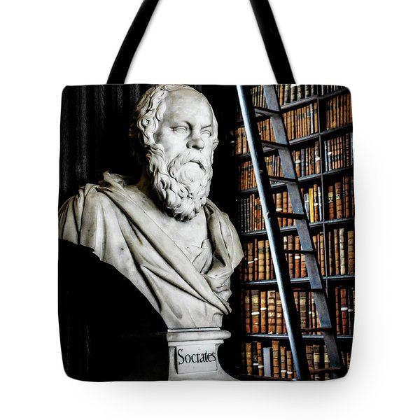 Socrates A Writer Of Knowledge Tote Bag
