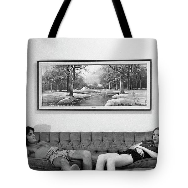 Sofa-sized Picture, With Light Switch, 1973 Tote Bag