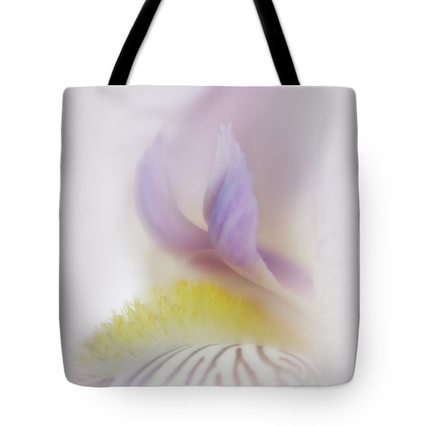 Tote Bag featuring the photograph Soft And Delicate Iris by David and Carol Kelly