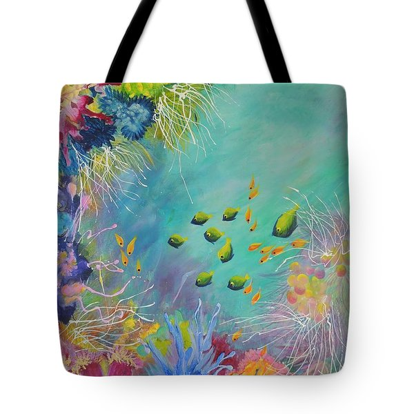 Soft And Hard Reef Corals Tote Bag