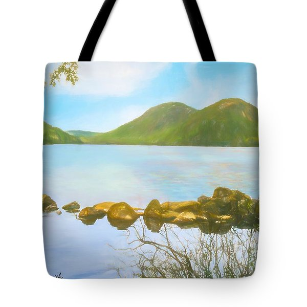 Soft Art Photograph Jordan Pond Acadia Nat. Park Maine Tote Bag