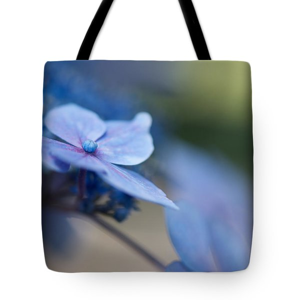 Tote Bag featuring the photograph Soft Blue Moment by Lisa Knechtel
