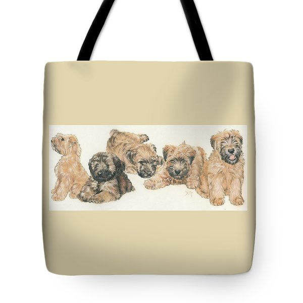 Soft-coated Wheaten Terrier Puppies Tote Bag