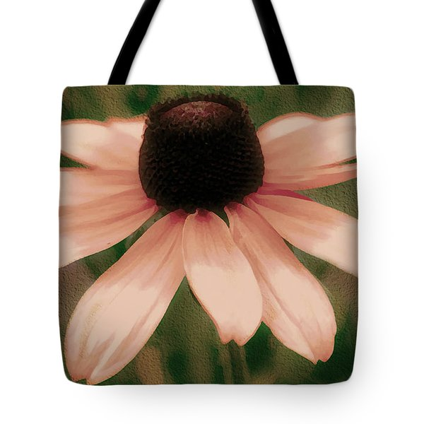 Soft Delicate Pink Daisy Tote Bag by Judy Palkimas