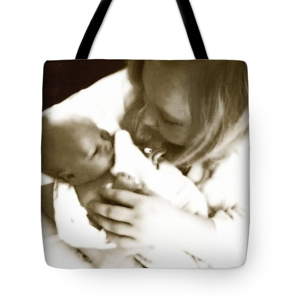 Soft Glow Mom And Babe Tote Bag