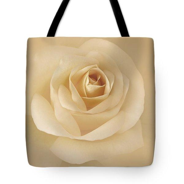 Soft Golden Rose Flower Tote Bag by Jennie Marie Schell