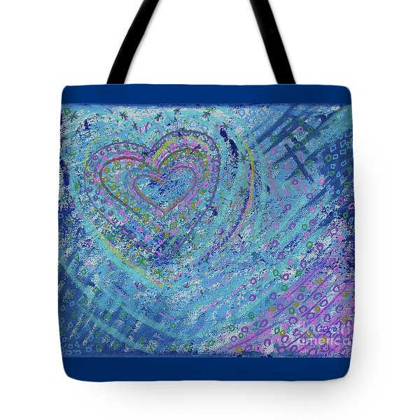 Tote Bag featuring the painting Soft Heart by Corinne Carroll