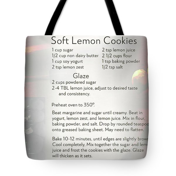 Soft Lemon Cookie Recipe Tote Bag