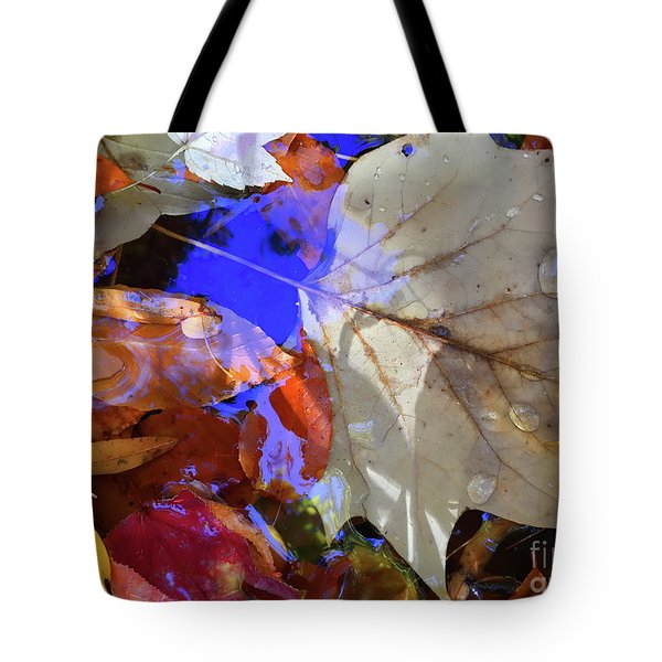 Soft Light Leaves Tote Bag by Todd Breitling