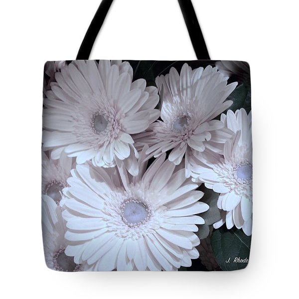 Soft Pink Daisy Bouquet Tote Bag by Jeannie Rhode